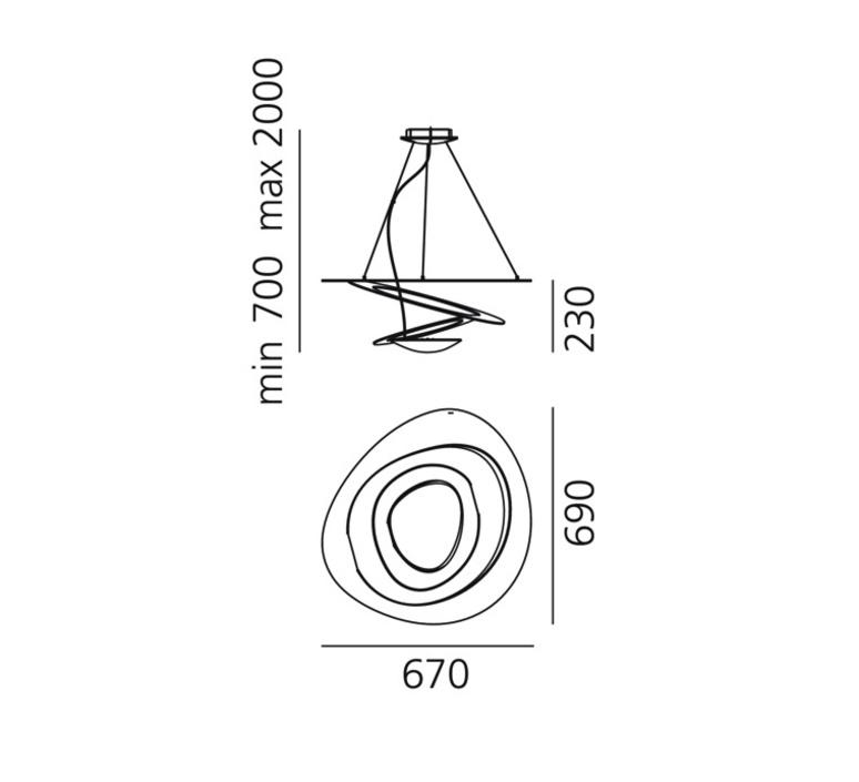 Pirce giuseppe maurizio scutella  suspension pendant light  artemide 1254120a  design signed 35294 product