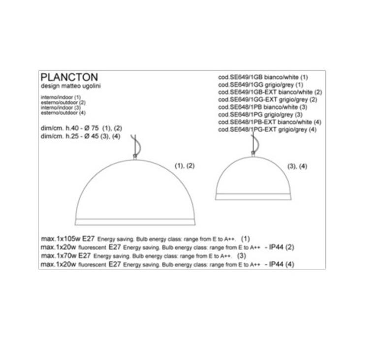 Plancton matteo ugolini karman se648 1pb luminaire lighting design signed 19597 product