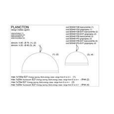 Plancton matteo ugolini karman se648 1pb luminaire lighting design signed 19597 thumb