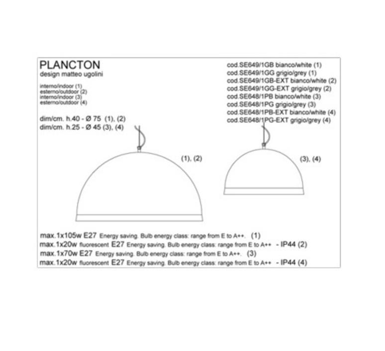 Plancton matteo ugolini karman se649 1gb luminaire lighting design signed 19603 product