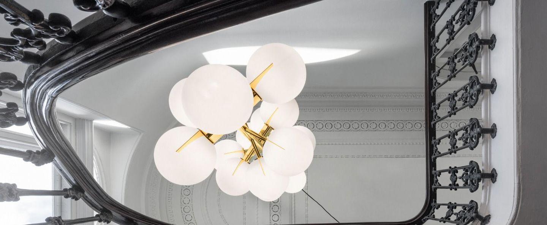 Suspension plane drop chandelier laiton o43cm h160cm tom dixon normal
