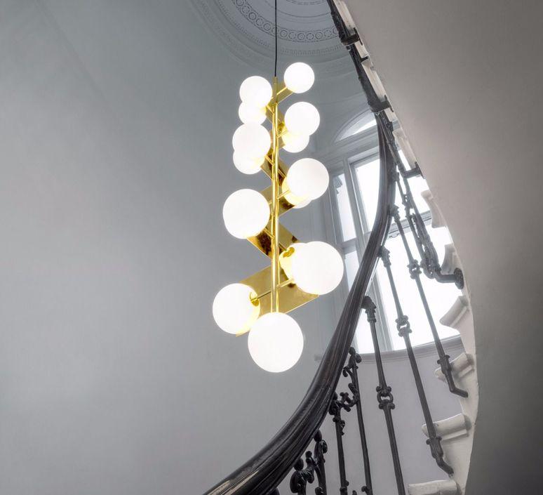 drop lighting. Plane Drop Chandelier Tom Dixon Suspension Pendant Light Sll05beu Design Signed 48625 Product Lighting
