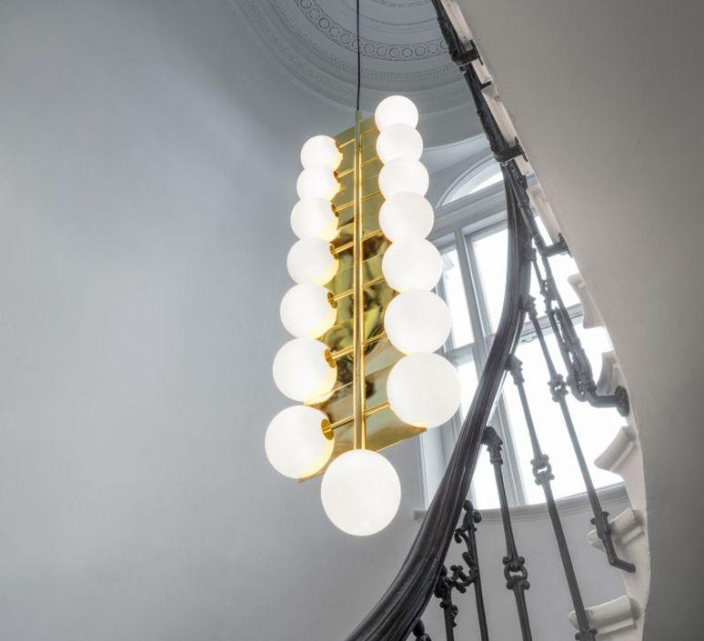 Plane drop chandelier tom dixon suspension pendant light  tom dixon sll05beu  design signed 48626 product