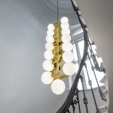 Plane drop chandelier tom dixon suspension pendant light  tom dixon sll05beu  design signed 48626 thumb