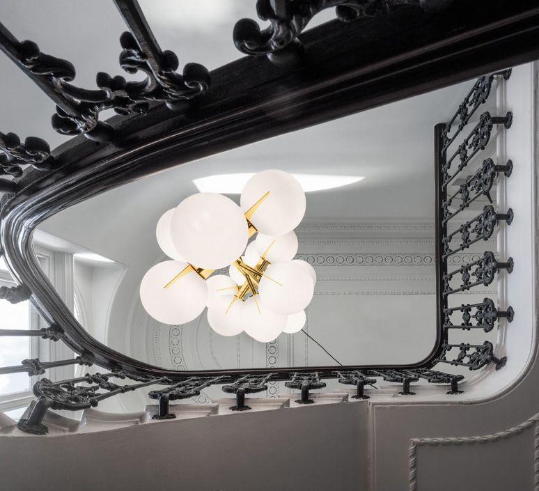 Plane drop chandelier tom dixon suspension pendant light  tom dixon sll05beu  design signed 48627 product