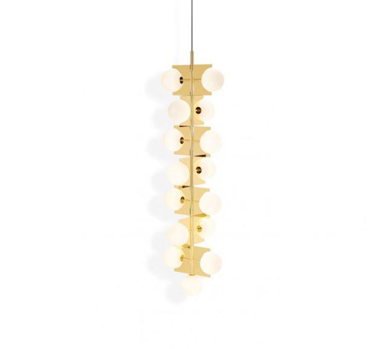 Plane drop chandelier tom dixon suspension pendant light  tom dixon sll05beu  design signed 48628 product