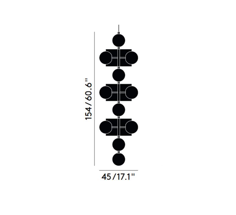 Plane drop chandelier tom dixon suspension pendant light  tom dixon sll05beu  design signed 48636 product