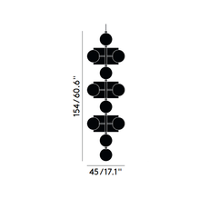 Plane drop chandelier tom dixon suspension pendant light  tom dixon sll05beu  design signed 48636 thumb