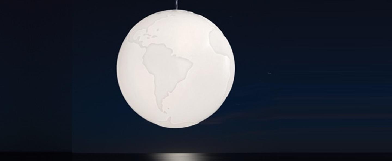 Suspension planet earth blanc o40cm formagenda normal