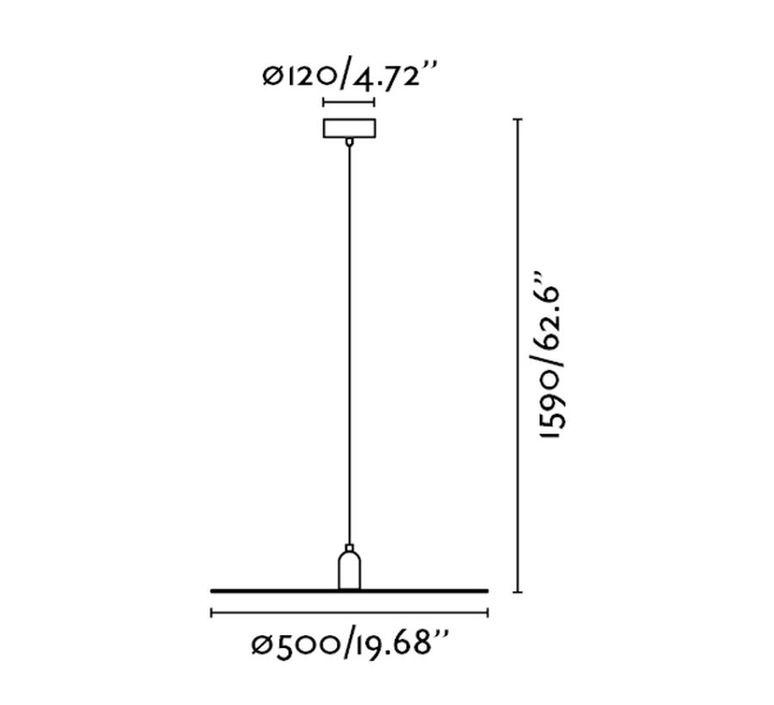 Plat   suspension pendant light  faro 68146  design signed 38206 product