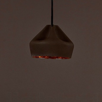 Suspension pleat box marron or led o21cm h18cm marset normal