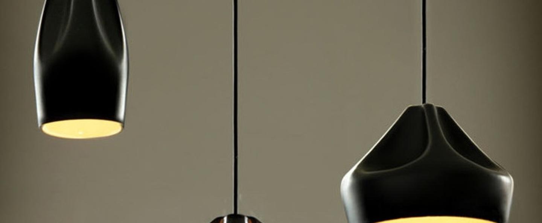 Suspension pleat box noir et or o34cm marset normal