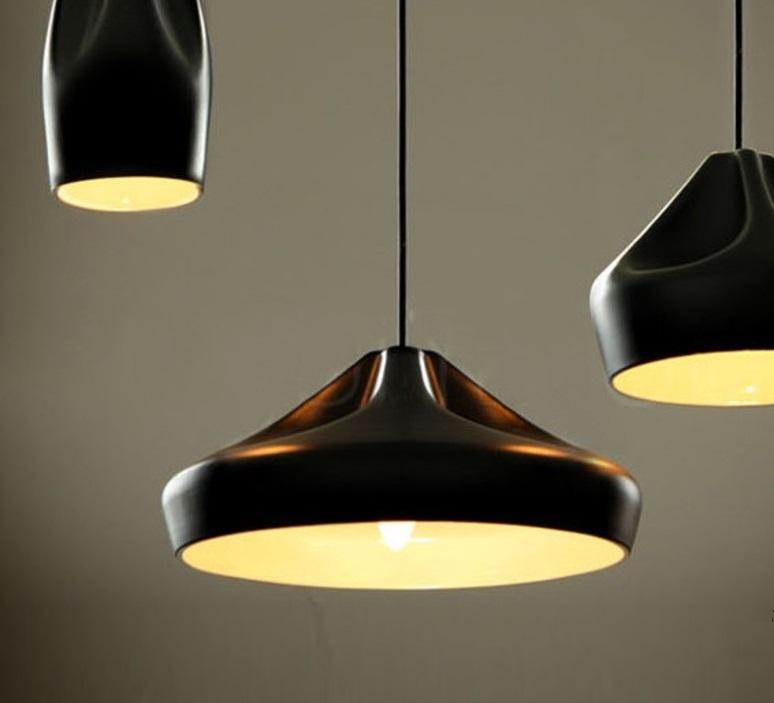 suspension pleat box 36 noir et or 36cm marset luminaires nedgis. Black Bedroom Furniture Sets. Home Design Ideas