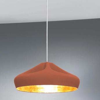 Suspension pleat box terracotta or led o34cm h16cm marset normal