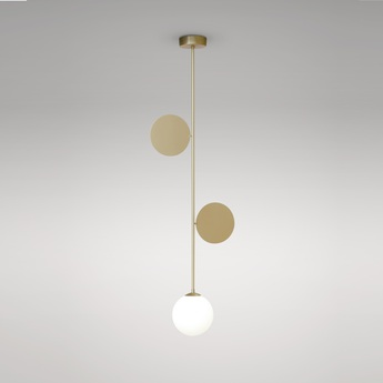 Suspension pltes pendant laiton o10cm h102 4cm atelier areti normal