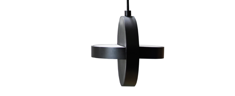 Suspension plus noir led o18cm h18cm eno studio normal