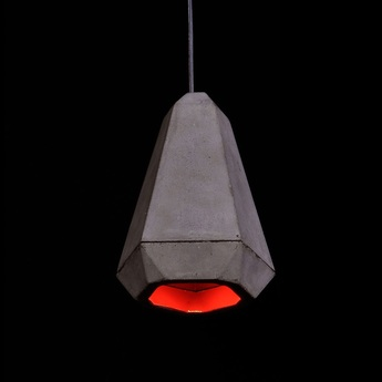 Suspension portland gris rouge h27cm innermost normal