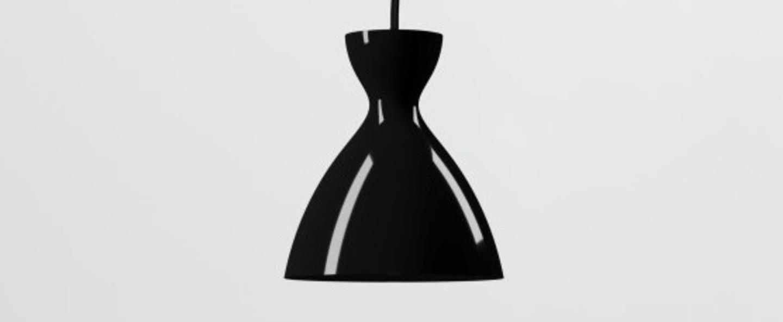 Suspension pretty s noir brillant o16 4cm h18 1cm nyta normal