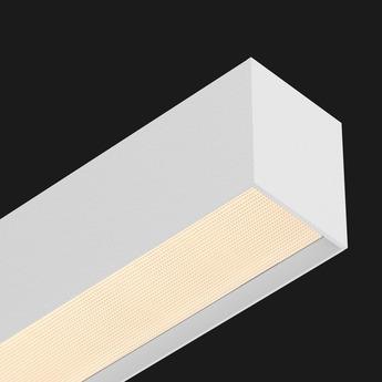 Suspension profile ledliner80 ready to go blanc led dimmable dali 3000k 4698lm l130cm h9 8cm prismatic doxis normal