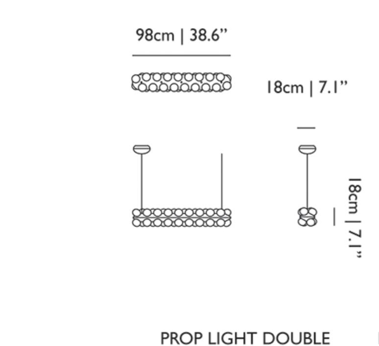Prop light double  bertjan pot suspension pendant light  moooi molpr0sd36wa   design signed 38589 product
