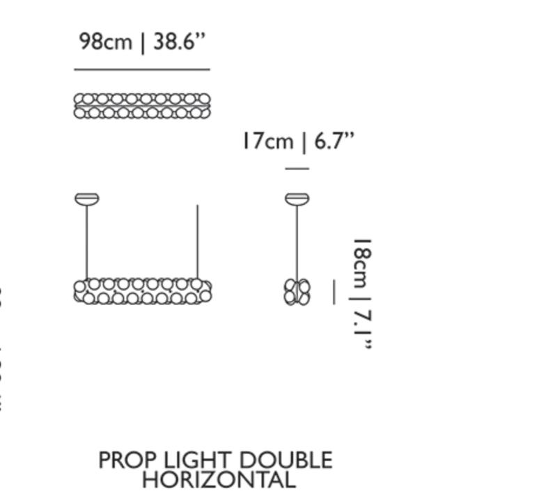 Prop light double horizontal bertjan pot suspension pendant light  moooi molpr0dh36wa   design signed 38601 product