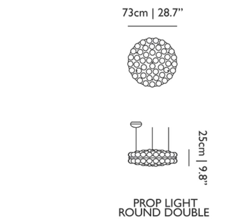 Prop light round double  bertjan pot suspension pendant light  moooi molpr1sd96wa   design signed 38595 product