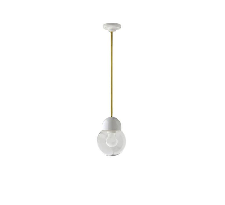 Pure porcelaine glass 005 transparent  suspension pendant light  zangra light 036 024 w go 005  design signed 39457 product