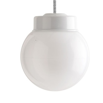 Suspension pure porcelaine glass 006 blanc o14 5cm h13cm zangra normal