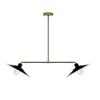 Suspension pure porcelaine noir brillant l86cm h65cm zangra normal