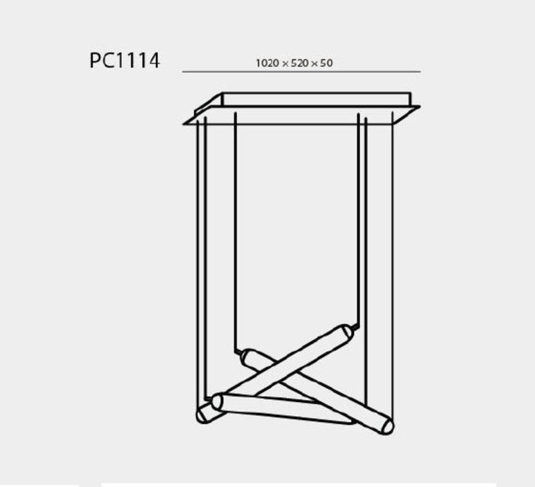 Puro eclectic rectangular canopy small 800 d h lucie koldova suspension pendant light  brokis pc1114 cgc39 ccs845 ccsc618 cecl521 cedv1457  design signed nedgis 78284 product