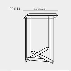 Puro eclectic rectangular canopy small 800 d h lucie koldova suspension pendant light  brokis pc1114 cgc39 ccs845 ccsc618 cecl521 cedv1457  design signed nedgis 78284 thumb