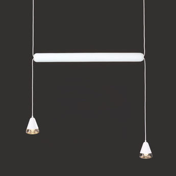 Suspension puro horizontal 600 blanc led o73cm h107 8cm brokis normal