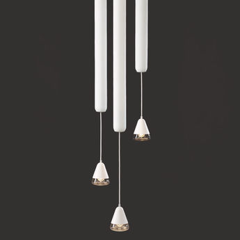 Suspension puro vertical 600 blanc led o12cm h108cm brokis normal