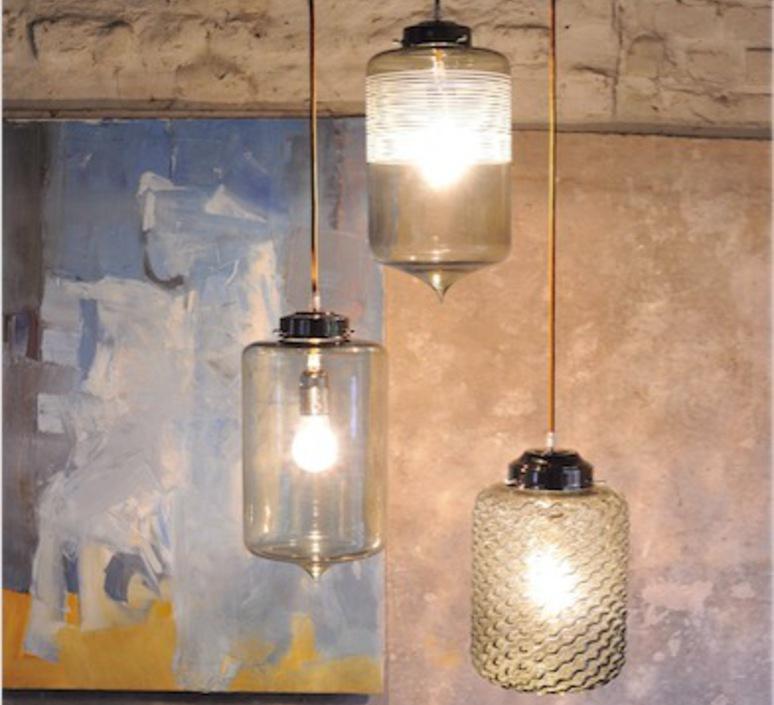 suspension puur gris fum h35cm 18cm hind rabii luminaires nedgis. Black Bedroom Furniture Sets. Home Design Ideas