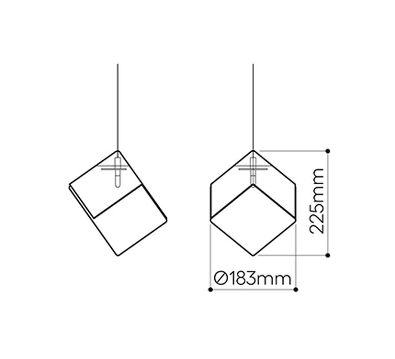 Pyrite studio dechem suspension pendant light  bomma or wout canopy  design signed nedgis 118122 product