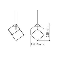 Pyrite studio dechem suspension pendant light  bomma or wout canopy  design signed nedgis 118122 thumb