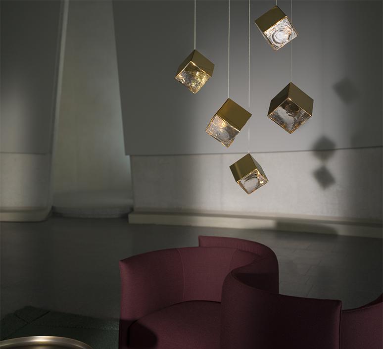 Pyrite studio dechem suspension pendant light  bomma or w canopy  design signed nedgis 118104 product