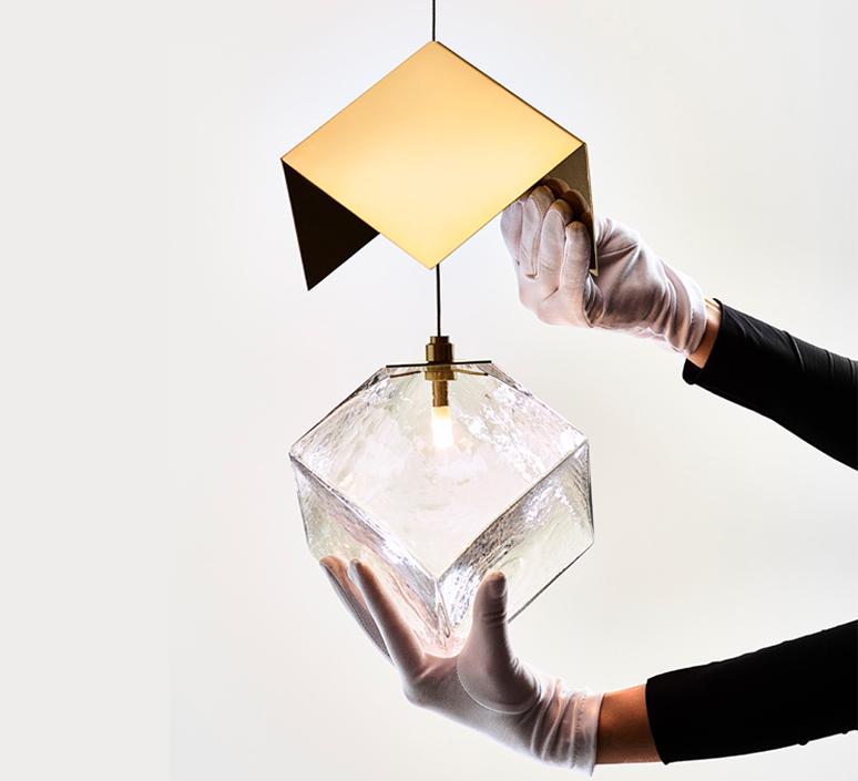 Pyrite studio dechem suspension pendant light  bomma or w canopy  design signed nedgis 118109 product