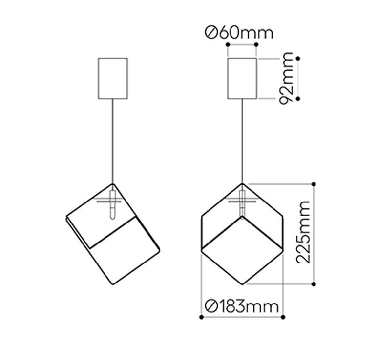 Pyrite studio dechem suspension pendant light  bomma or w canopy  design signed nedgis 118112 product