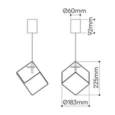 Pyrite studio dechem suspension pendant light  bomma or w canopy  design signed nedgis 118112 thumb