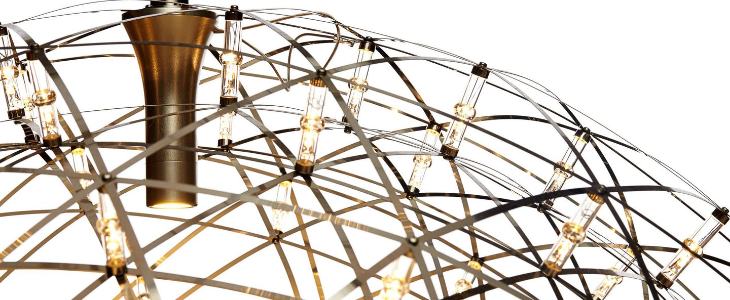 Suspension raimond dome 9 acier inoxydable led o79cm h40cm moooi normal