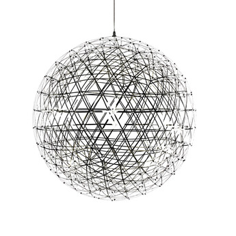 Suspension raimond r61 acier inoxydable led o61cm h61cm moooi normal