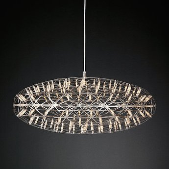 Suspension raimond zafu 75 dimmable acier inoxydable led o75cm h30cm moooi normal