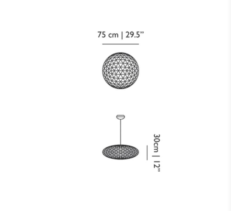 Raimond zafu 75 non dimmable  suspension pendant light  moooi unmolledz75   design signed 57372 product