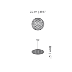 Raimond zafu 75 non dimmable  suspension pendant light  moooi unmolledz75   design signed 57372 thumb