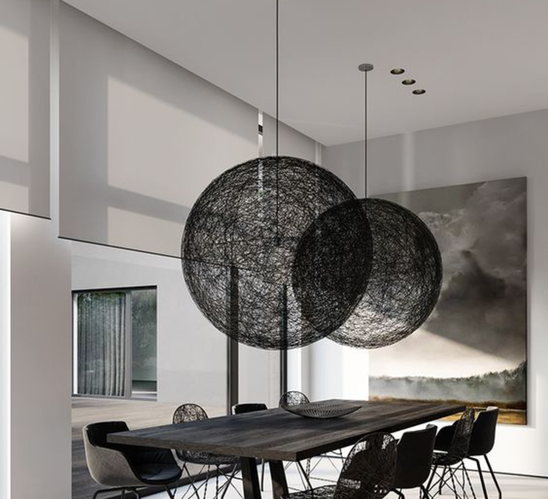 pendant light random light l black led 105cm h105cm moooi nedgis lighting. Black Bedroom Furniture Sets. Home Design Ideas