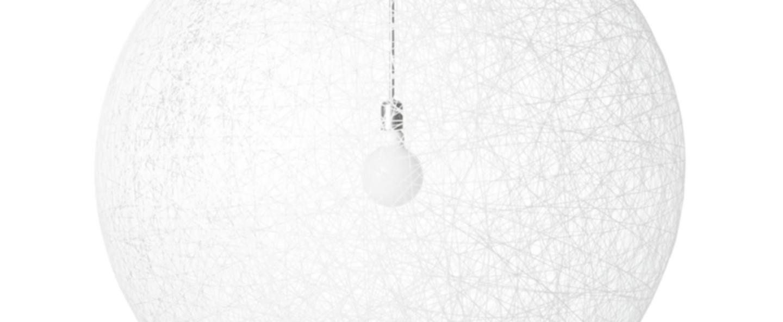 Suspension random light led l blanc led o105cm h105cm moooi normal