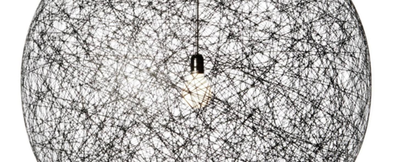 Suspension random light led l noir led o105cm h105cm moooi normal