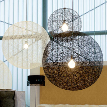 Suspension random light led l noir led o105cm h105cm moooi normal