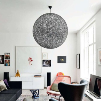 Suspension random light led m noir led o80cm h80cm moooi normal